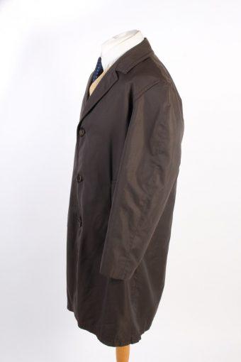 Vintage Akylon Comtal Paris Classic Trench Coat Bust 50 Dark Brown -C1599-117157