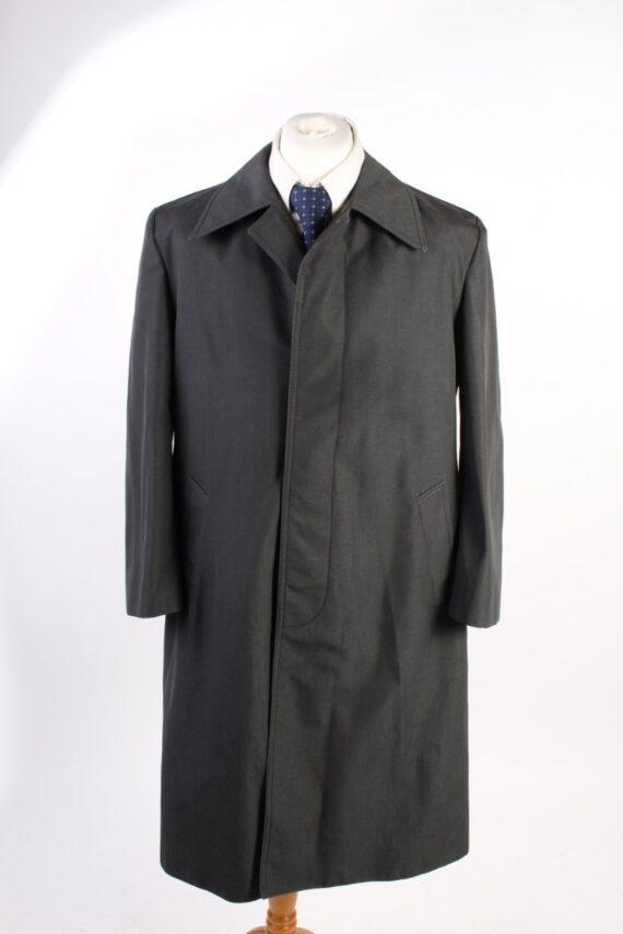 Vintage Pluie Sport Classic Trench Coat Chest 43 Dark Grey -C1600-0