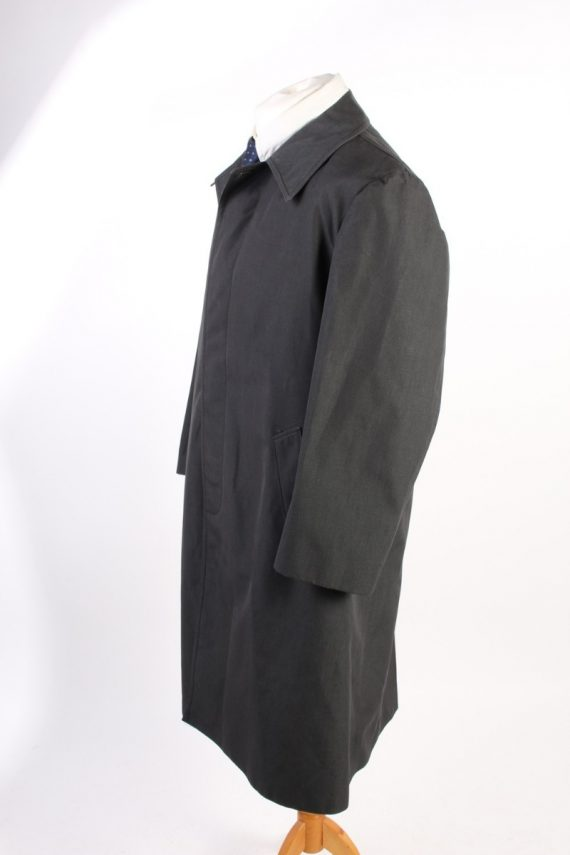 Vintage Pluie Sport Classic Trench Coat Chest 43 Dark Grey -C1600-117147