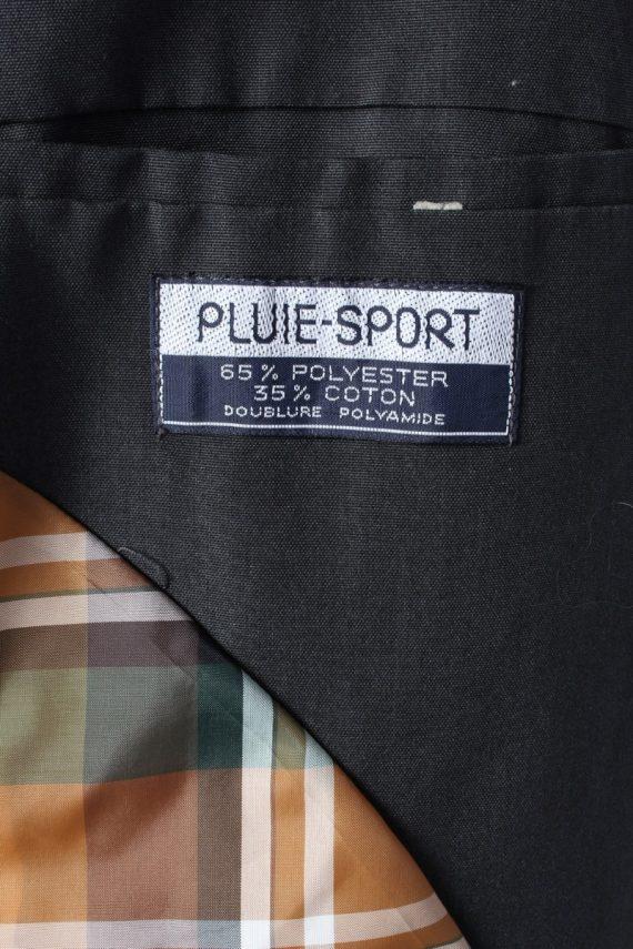 Vintage Pluie Sport Classic Trench Coat Chest 43 Dark Grey -C1600-117150