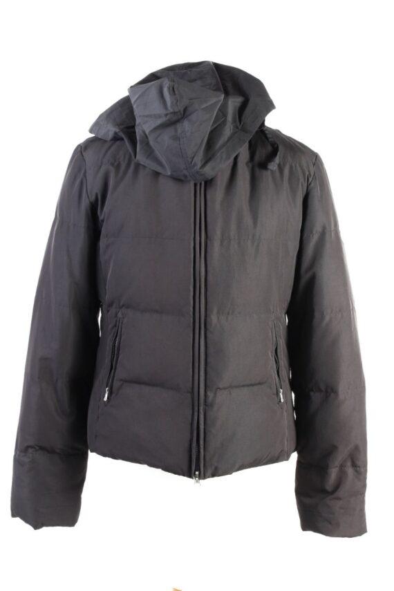 Vintage Champion Winter Puffer Coat XL Black -C1606-0