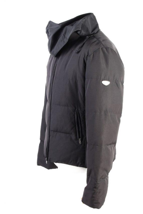 Vintage Champion Winter Puffer Coat XL Black -C1606-117500