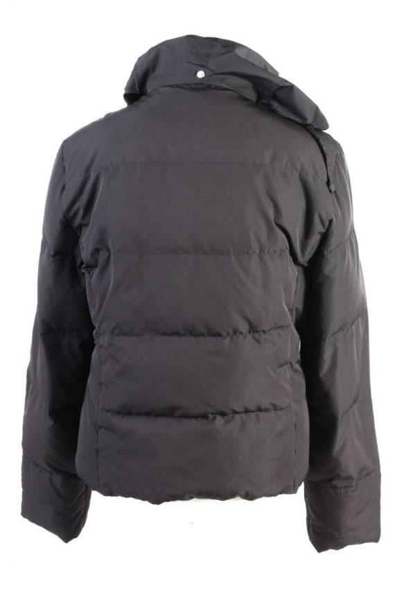 Vintage Champion Winter Puffer Coat XL Black -C1606-117501