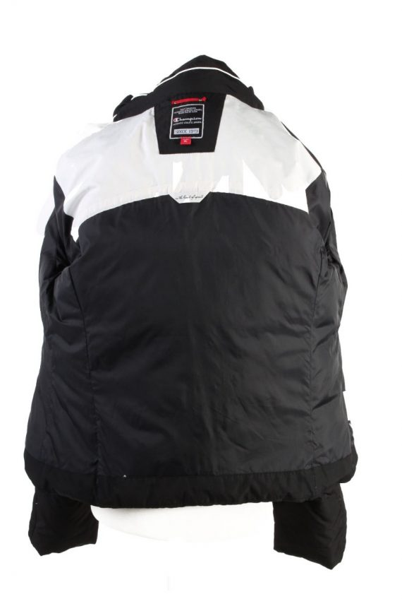 Vintage Champion Winter Puffer Coat XL Black -C1606-117502