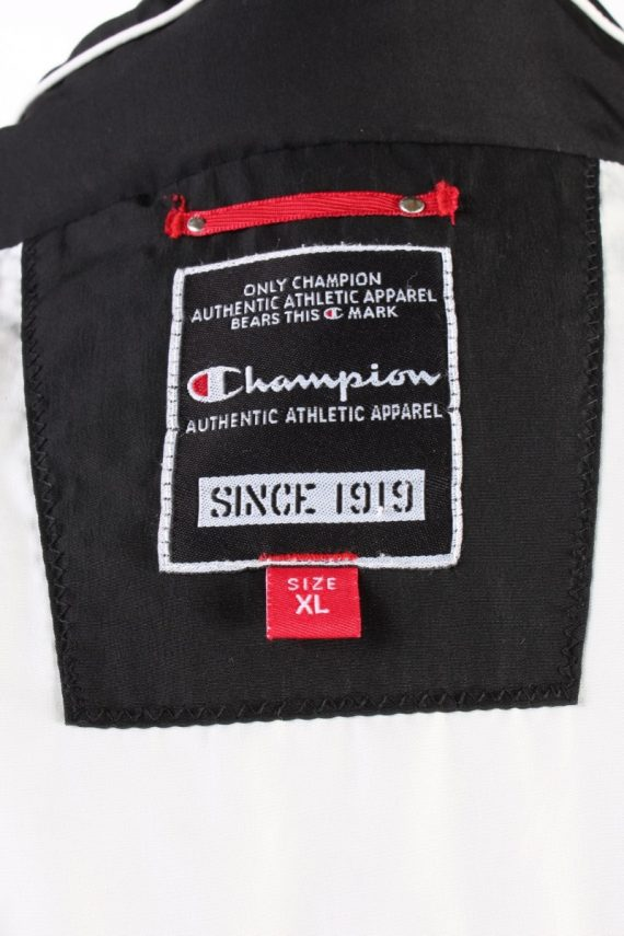 Vintage Champion Winter Puffer Coat XL Black -C1606-117503