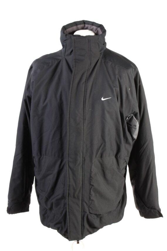 Vintage Nike Winter Puffer Coat M Black -C1608-0
