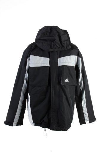 Vintage Adidas Winter Puffer Coat M Black