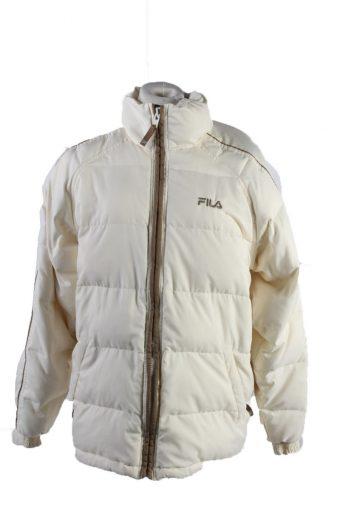Vintage Fila Winter Puffer Coat S White
