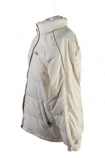 Vintage Fila Winter Puffer Coat S White -C1621-117619