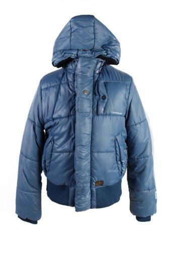 Vintage GStar Winter Puffer Coat XL Blue