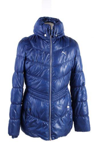 Vintage Puma Winter Puffer Coat 10 Blue