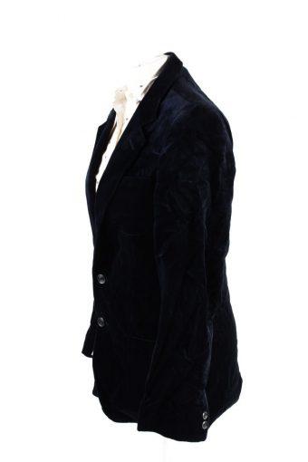 Vintage Viersener Lamt Soft Velvet Jacket 182 Dark Blue -C1631-117877