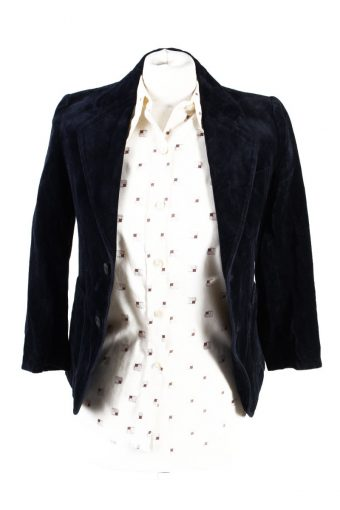 Vintage Soft Velvet Jacket Dark Blue