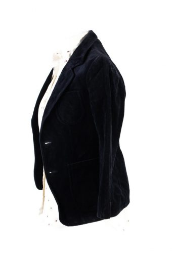 Vintage Soft Velvet Jacket Dark Blue -C1632-117873