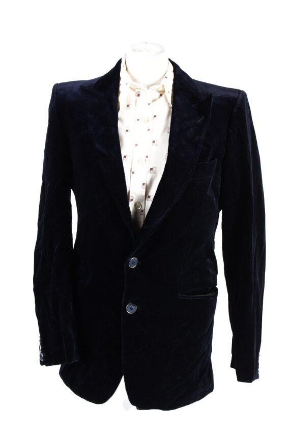 Vintage Angelo Litrico Soft Velvet Jacket Dark Blue -C1636-0