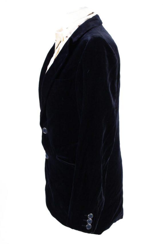 Vintage Angelo Litrico Soft Velvet Jacket Dark Blue -C1636-117857