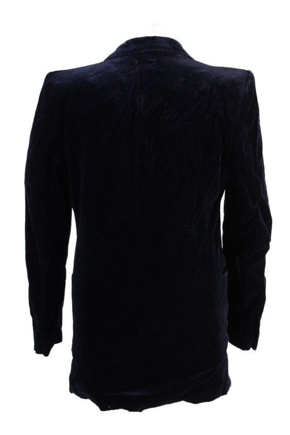Vintage Angelo Litrico Soft Velvet Jacket Dark Blue -C1636-117858