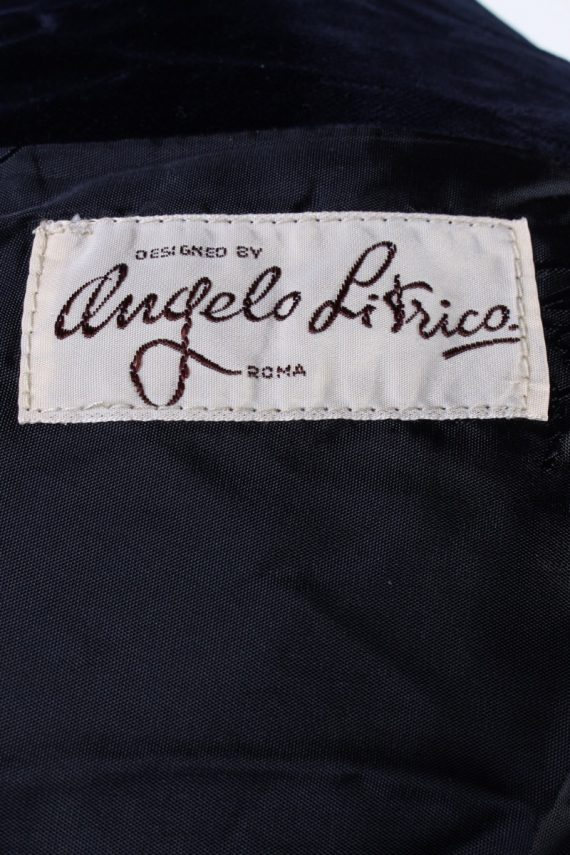 Vintage Angelo Litrico Soft Velvet Jacket Dark Blue -C1636-117859