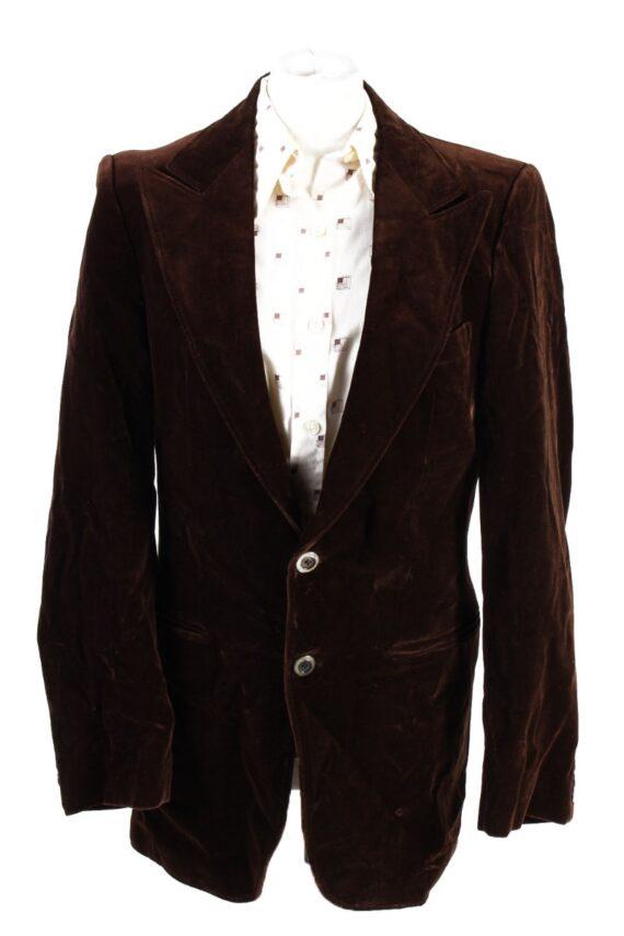 Vintage Soft Velvet Jacket Brown -C1637-0