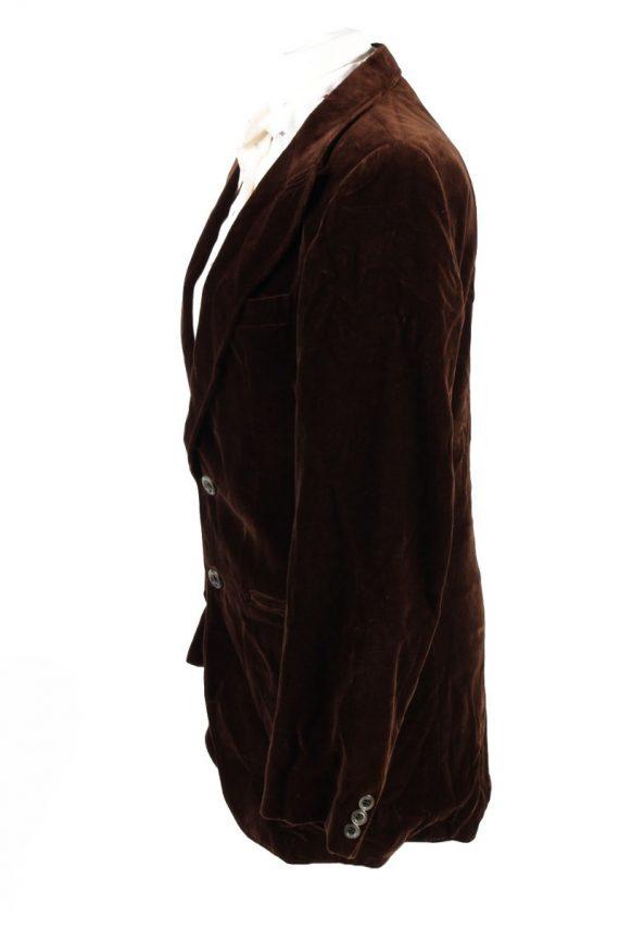 Vintage Soft Velvet Jacket Brown -C1637-117853