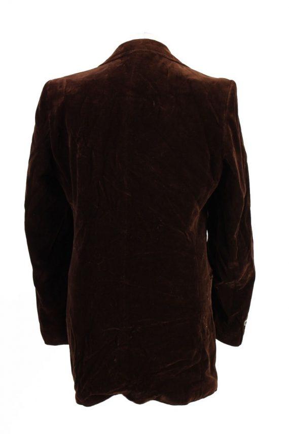 Vintage Soft Velvet Jacket Brown -C1637-117854