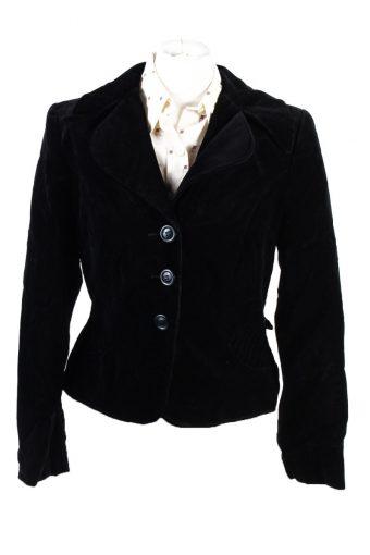 Vintage Dixie Geister Soft Velvet Jacket 42 Black