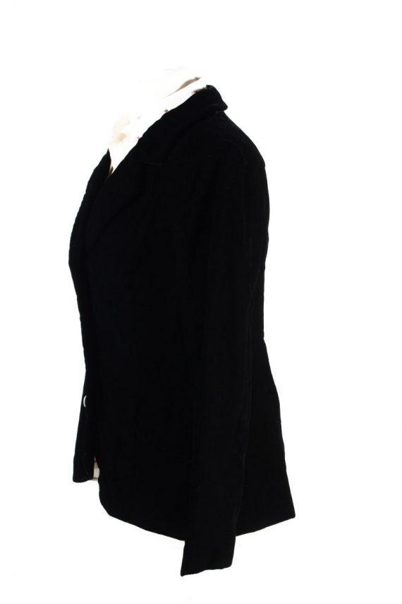 Vintage C&A Golden Gate Soft Velvet Jacket 4 Black -C1642-117835