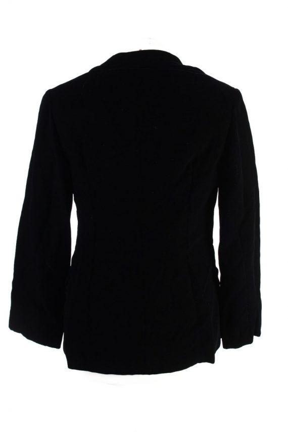 Vintage C&A Golden Gate Soft Velvet Jacket 4 Black -C1642-117836
