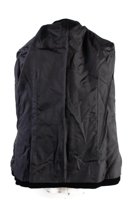 Vintage C&A Golden Gate Soft Velvet Jacket 4 Black -C1642-117837