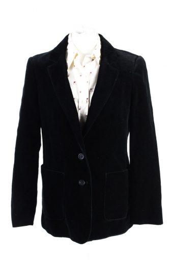 Vintage C&A Golden Gate Soft Velvet Jacket 4 Black