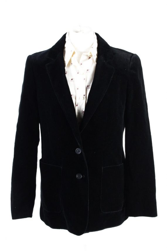 Vintage C&A Golden Gate Soft Velvet Jacket 4 Black -C1642-0