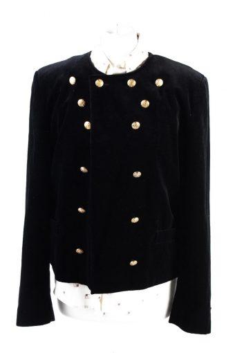 Vintage Soft Velvet Jacket 12 Black