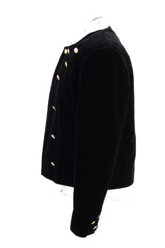 Vintage Soft Velvet Jacket 12 Black -C1646-117819
