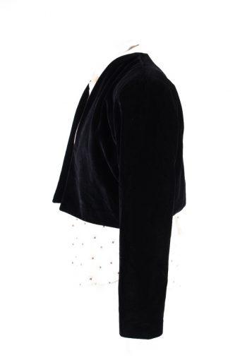 Vintage Avalanche Soft Velvet Jacket 2 Black -C1647-117815