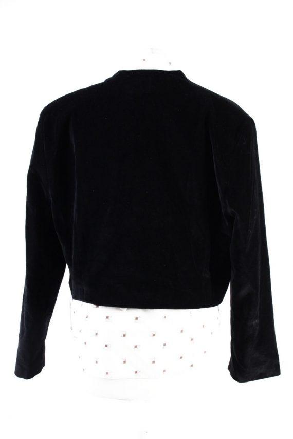 Vintage Avalanche Soft Velvet Jacket 2 Black -C1647-117816