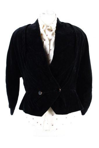Vintage Soft Velvet Jacket Black