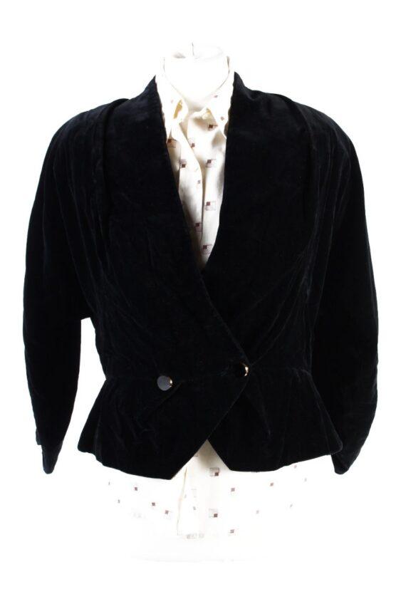 Vintage Soft Velvet Jacket Black -C1650-0