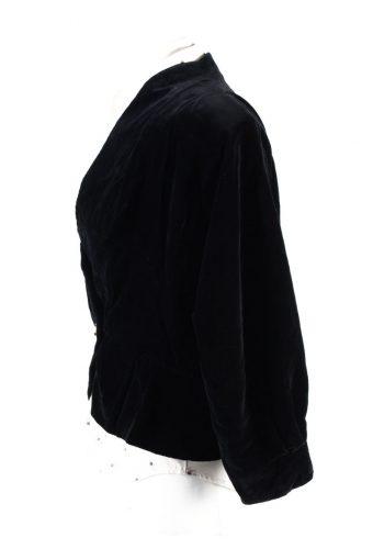 Vintage Soft Velvet Jacket Black -C1650-117803