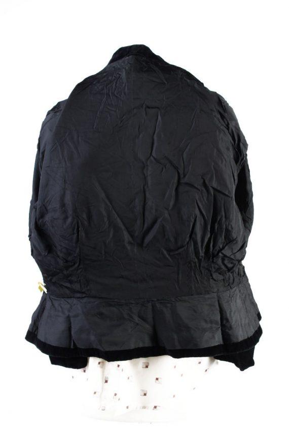 Vintage Soft Velvet Jacket Black -C1650-117805