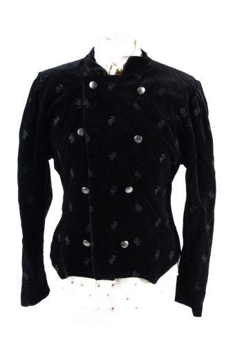 Vintage Elfies Modeladen Soft Velvet Jacket 2 Black