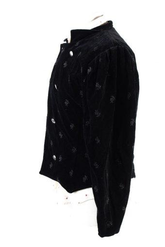 Vintage Elfies Modeladen Soft Velvet Jacket 2 Black -C1651-117799