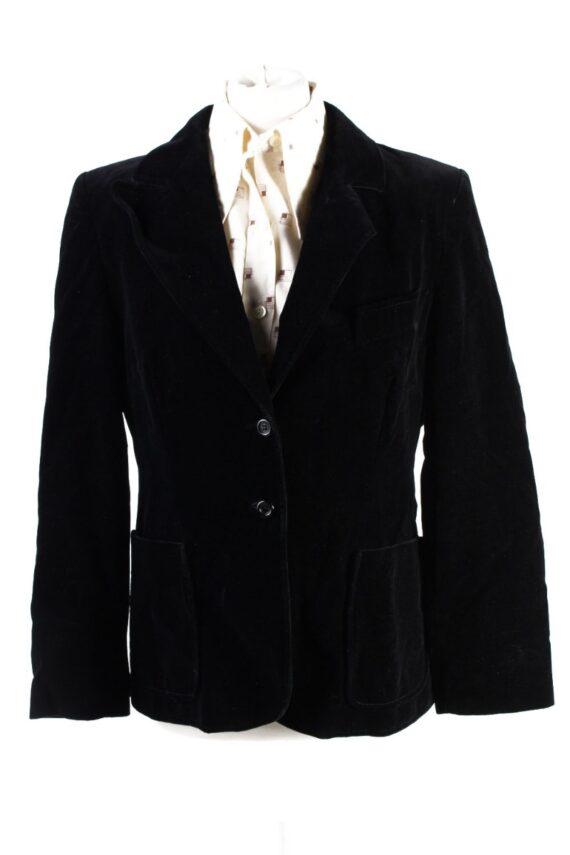 Vintage Britta Model Soft Velvet Jacket 42 Black -C1653-0