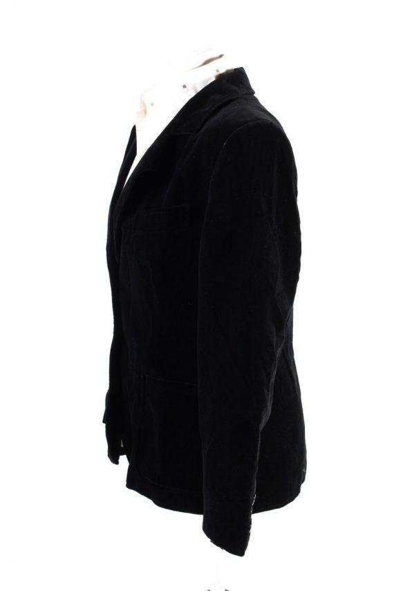 Vintage Britta Model Soft Velvet Jacket 42 Black -C1653-117791