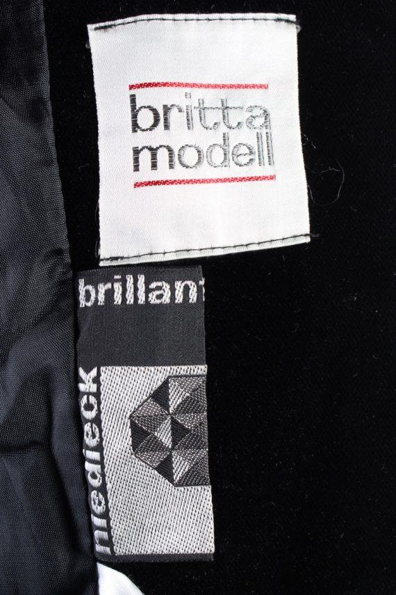 Vintage Britta Model Soft Velvet Jacket 42 Black -C1653-117793