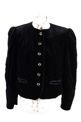 Vintage Soft Velvet Jacket 42 Black