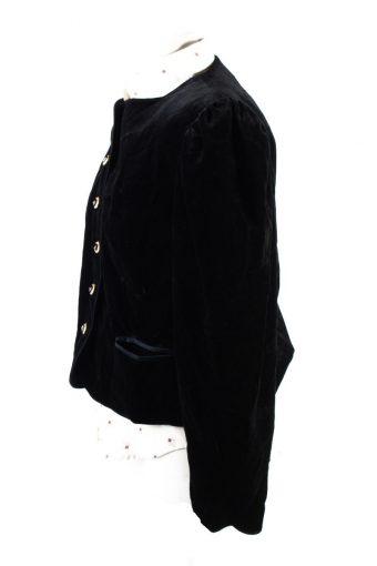 Vintage Soft Velvet Jacket 42 Black -C1654-117787