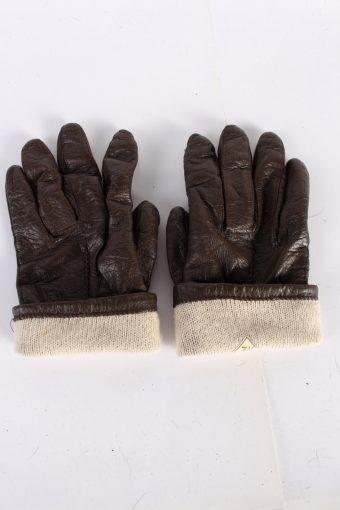 Vintage Leather Gloves Lining 7 Brown G69-117675
