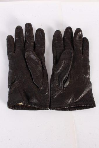 Vintage Leather Gloves Lining 7 Black