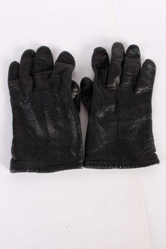 Vintage Leather Gloves Lining 7 Black G71-117663