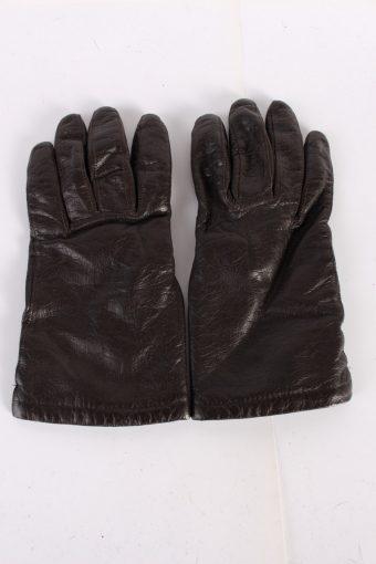 Vintage Leather Gloves Lining 7 Brown G72-117659